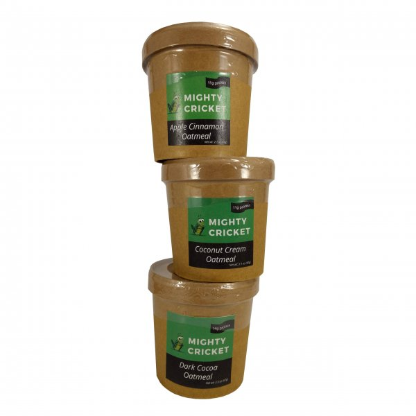 High Protein Instant Oatmeal Cup sampler