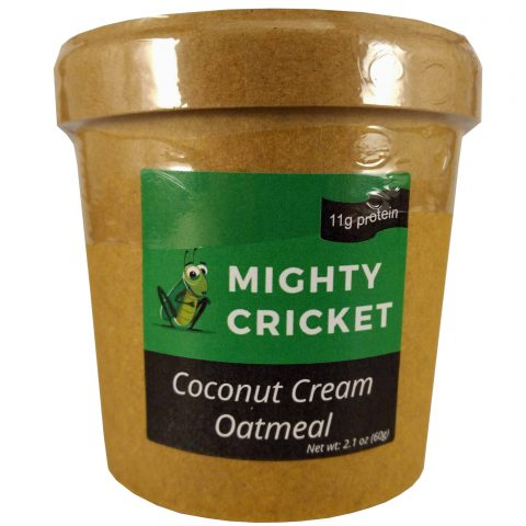 Mighty Cricket High protein coconut cream instant oatmeal cup to go low sugar