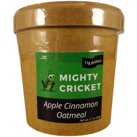 Mighty Cricket High protein apple cinnamon instant oatmeal cup to go low sugar