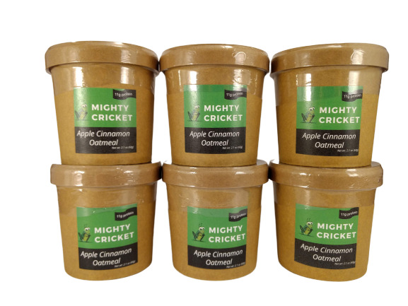 Mighty Cricket Apple Cinnamon High Protein Oatmeal Six Pack