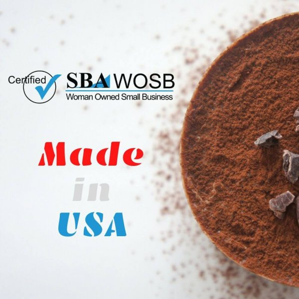 Mighty Cricket Protein Powder Chocolate is certified woman owned small business and made in the USA.