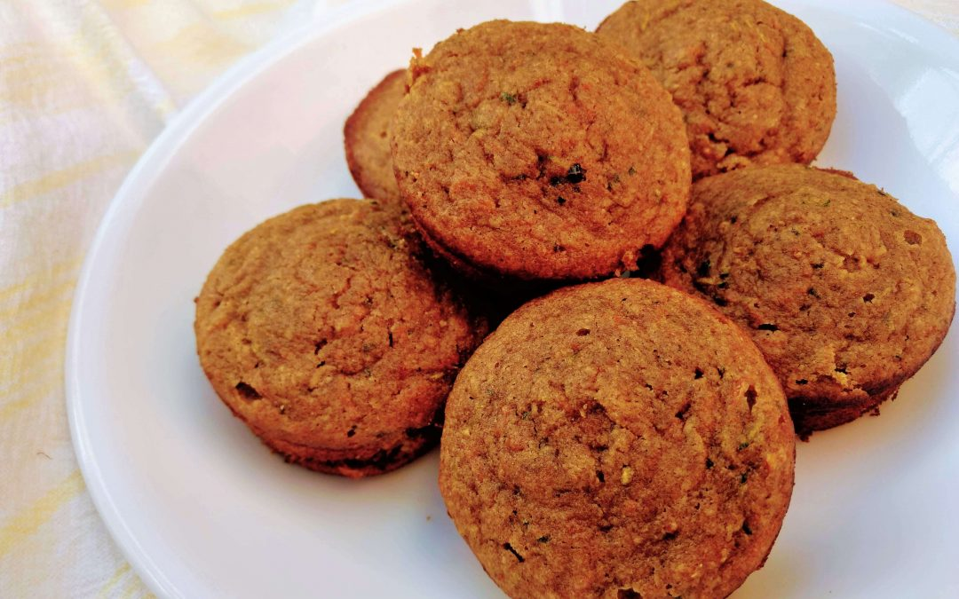 Carrot Zucchini Muffins (Gluten Free, Low Sugar) Recipe