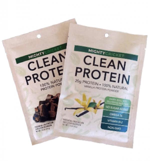 Mighty Cricket Protein Powder Sampler chocolate vanilla
